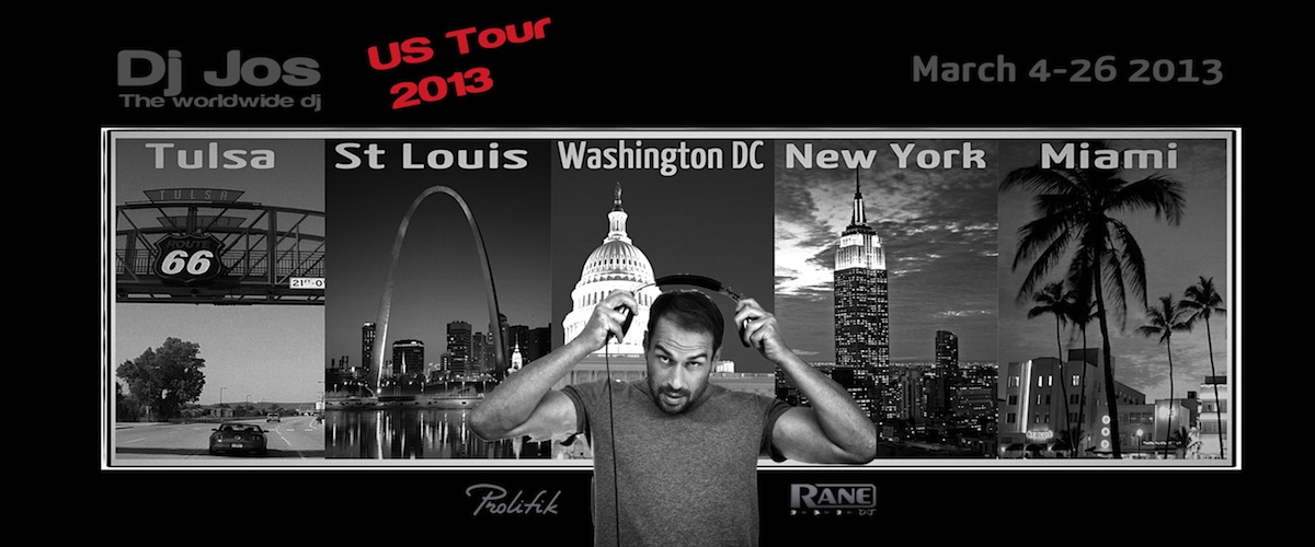 Dj Jos Tour US 2013